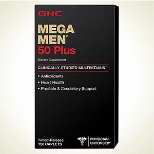 {GNC:Mega Men 50 plus 男性复合维生素缓释片 60 粒